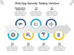 Web App Security Testing Vendors Ppt Powerpoint Presentation Professional Summary Cpb