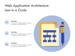 Web Application Architecture Icon In A Circle
