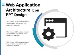 Web Application Architecture Icon Ppt Design