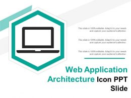 Web Application Architecture Icon Ppt Slide