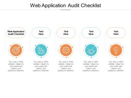 Web Application Audit Checklist Ppt Powerpoint Presentation Slides Structure Cpb