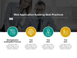 Web Application Auditing Best Practices Ppt Powerpoint Presentation Infographics Cpb