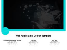 Web Application Design Template Ppt Powerpoint Presentation Slides Graphics Example Cpb