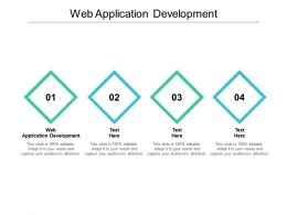 Web Application Development Ppt Powerpoint Presentation Summary Templates Cpb