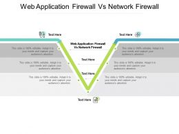 Web Application Firewall Vs Network Firewall Ppt Powerpoint Presentation Model Layouts Cpb