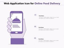 Web Application Icon For Online Food Delivery