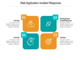 Web Application Incident Response Ppt Powerpoint Presentation Infographic Microsoft Cpb