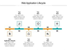 Web Application Lifecycle Ppt Powerpoint Presentation Pictures Cpb