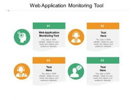 Web Application Monitoring Tool Ppt Powerpoint Presentation Model Graphics Example Cpb