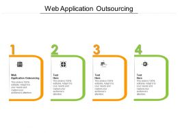 Web Application Outsourcing Ppt Powerpoint Presentation Ideas Template Cpb