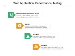 Web Application Performance Testing Ppt Powerpoint Presentation File Show Cpb