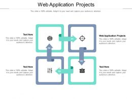 Web Application Projects Ppt Powerpoint Presentation Model Skills Cpb