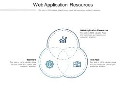 Web Application Resources Ppt Powerpoint Presentation Styles Graphics Template Cpb