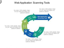 Web Application Scanning Tools Ppt Powerpoint Presentation Model Graphic Tips Cpb