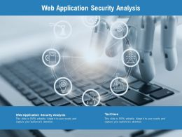 Web Application Security Analysis Ppt Powerpoint Inspiration Infographics Cpb