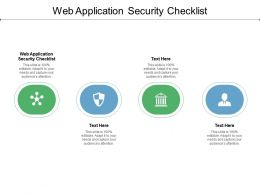 Web Application Security Checklist Ppt Powerpoint Presentation Infographics Cpb