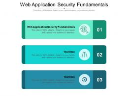 Web Application Security Fundamentals Ppt Powerpoint Presentation Model Gallery Cpb
