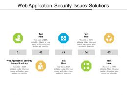 Web Application Security Issues Solutions Ppt Powerpoint Presentation Portfolio Ideas Cpb
