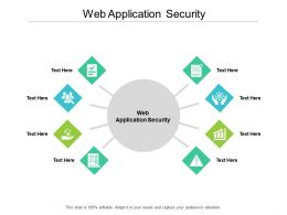 Web Application Security Ppt Powerpoint Presentation Outline Layouts Cpb