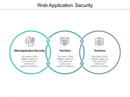 Web Application Security Ppt Powerpoint Presentation Styles Deck Cpb