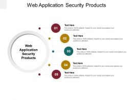 Web Application Security Products Ppt Powerpoint Presentation Infographic Template Cpb