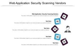 Web Application Security Scanning Vendors Ppt Powerpoint Presentation Layouts Cpb