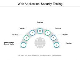 Web Application Security Testing Ppt Powerpoint Presentation Inspiration Guidelines Cpb