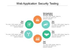 Web Application Security Testing Ppt Powerpoint Presentation Styles Brochure Cpb
