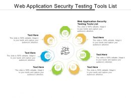 Web Application Security Testing Tools List Ppt Powerpoint Presentation Portfolio Guidelines Cpb