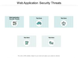 Web Application Security Threats Ppt Powerpoint Presentation Pictures Brochure Cpb