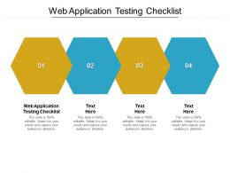 Web Application Testing Checklist Ppt Powerpoint Presentation Pictures Skills Cpb