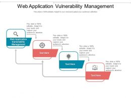 Web Application Vulnerability Management Ppt Powerpoint Presentation Slides Layouts Cpb