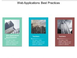 Web Applications Best Practices Ppt Powerpoint Presentation Infographic Template Clipart Images Cpb