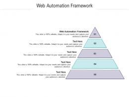 Web Automation Framework Ppt Powerpoint Presentation Ideas Slides Cpb