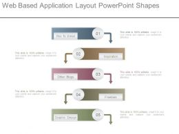 Web Based Application Layout Powerpoint Shapes