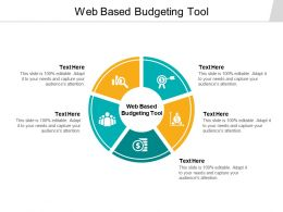 Web Based Budgeting Tool Ppt Powerpoint Presentation Icon Outline Cpb