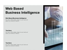 Web Based Business Intelligence Ppt Powerpoint Presentation Inspiration Tips Cpb