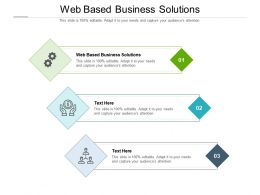 Web Based Business Solutions Ppt Powerpoint Presentation Layouts Ideas Cpb