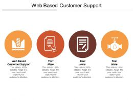 Web Based Customer Support Ppt Powerpoint Presentation Gallery Graphics Tutorialscpb