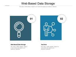Web Based Data Storage Ppt Powerpoint Presentation Show Elements Cpb