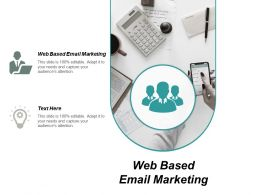 Web Based Email Marketing Ppt Powerpoint Presentation Portfolio Ideas Cpb