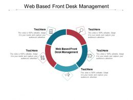 Web Based Front Desk Management Ppt Powerpoint Presentation Outline Display Cpb