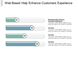 Web Based Help Enhance Customers Experience Ppt Powerpoint Presentation File Pictures Cpb