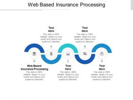 Web Based Insurance Processing Ppt Powerpoint Presentation Visual Aids Infographics Cpb