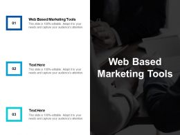 Web Based Marketing Tools Ppt Powerpoint Presentation Infographics Demonstration Cpb