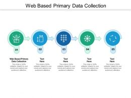 Web Based Primary Data Collection Ppt Powerpoint Presentation Ideas Portfolio Cpb