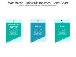 Web Based Project Management Gantt Chart Ppt Powerpoint Presentation Icon Examples Cpb