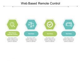 Web Based Remote Control Ppt Powerpoint Presentation Model Slides Cpb