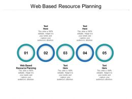 Web Based Resource Planning Ppt Powerpoint Presentation Ideas Visuals Cpb