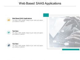 Web Based SaaS Applications Ppt Powerpoint Presentation Gallery Slides Cpb